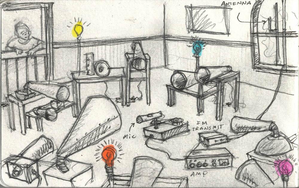 John Roach – Broadcast Room – sketch