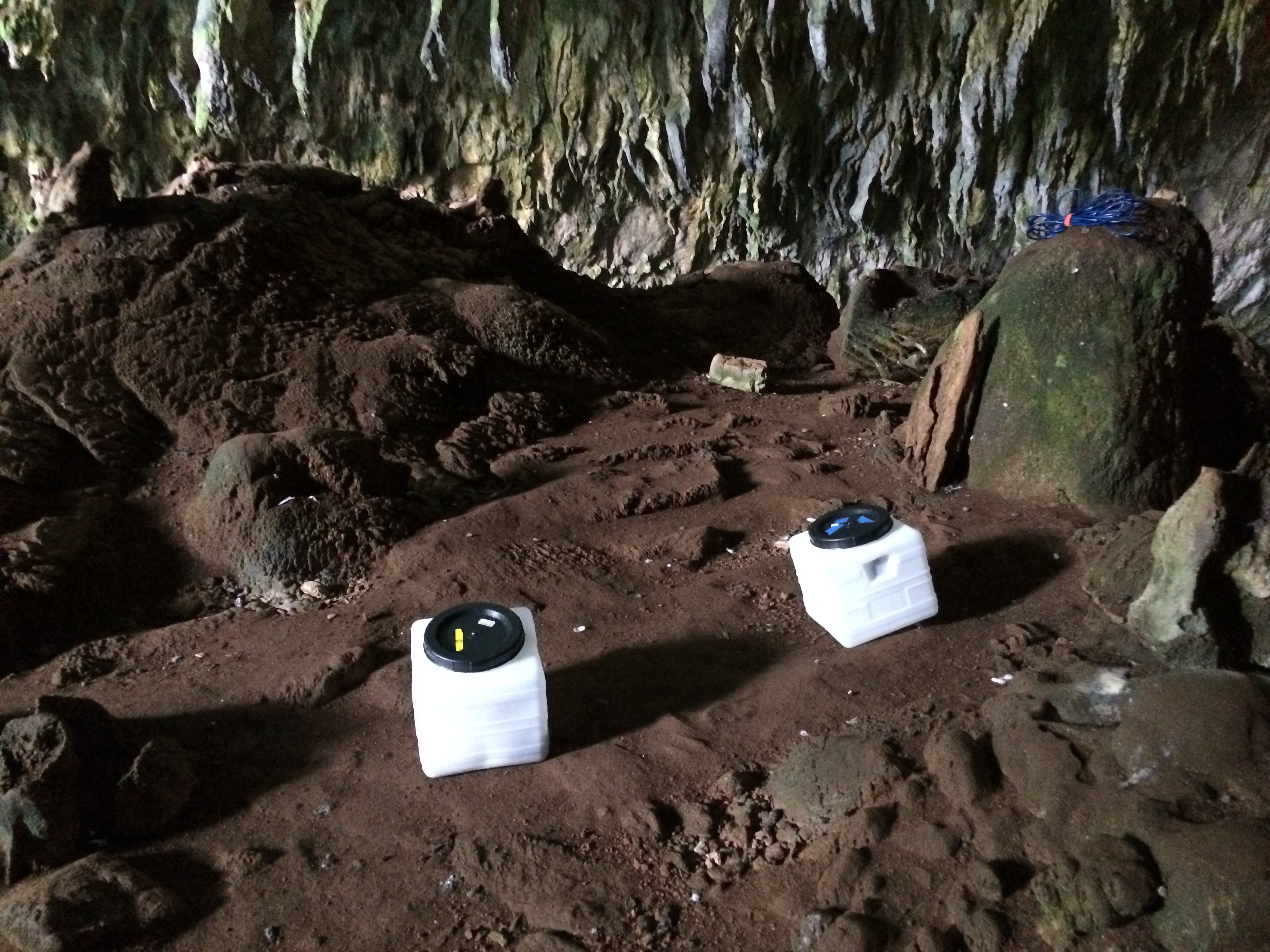 Installation In Melissani Cave, Kefalonia Greece (2015). Siren Earthquake Radio
