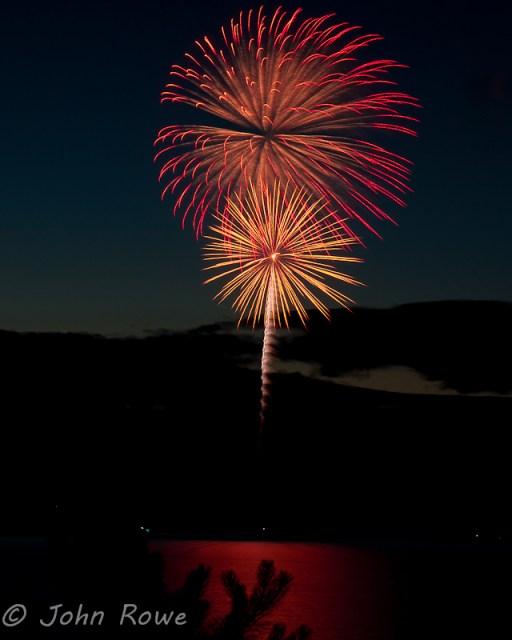 fireworks at camp huckins