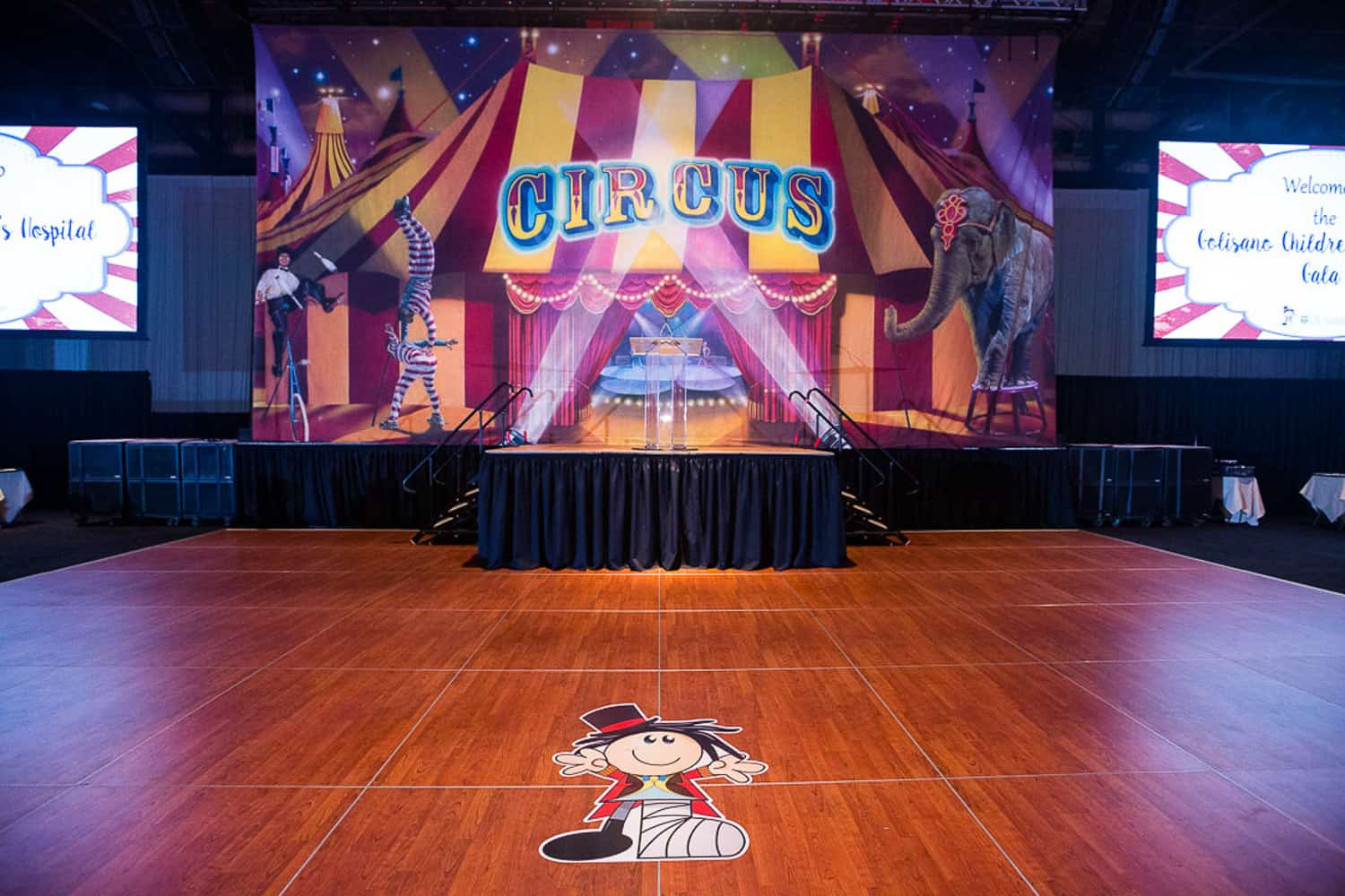 Event Photographer for the stage at Golisano Children's Hospital Gala.