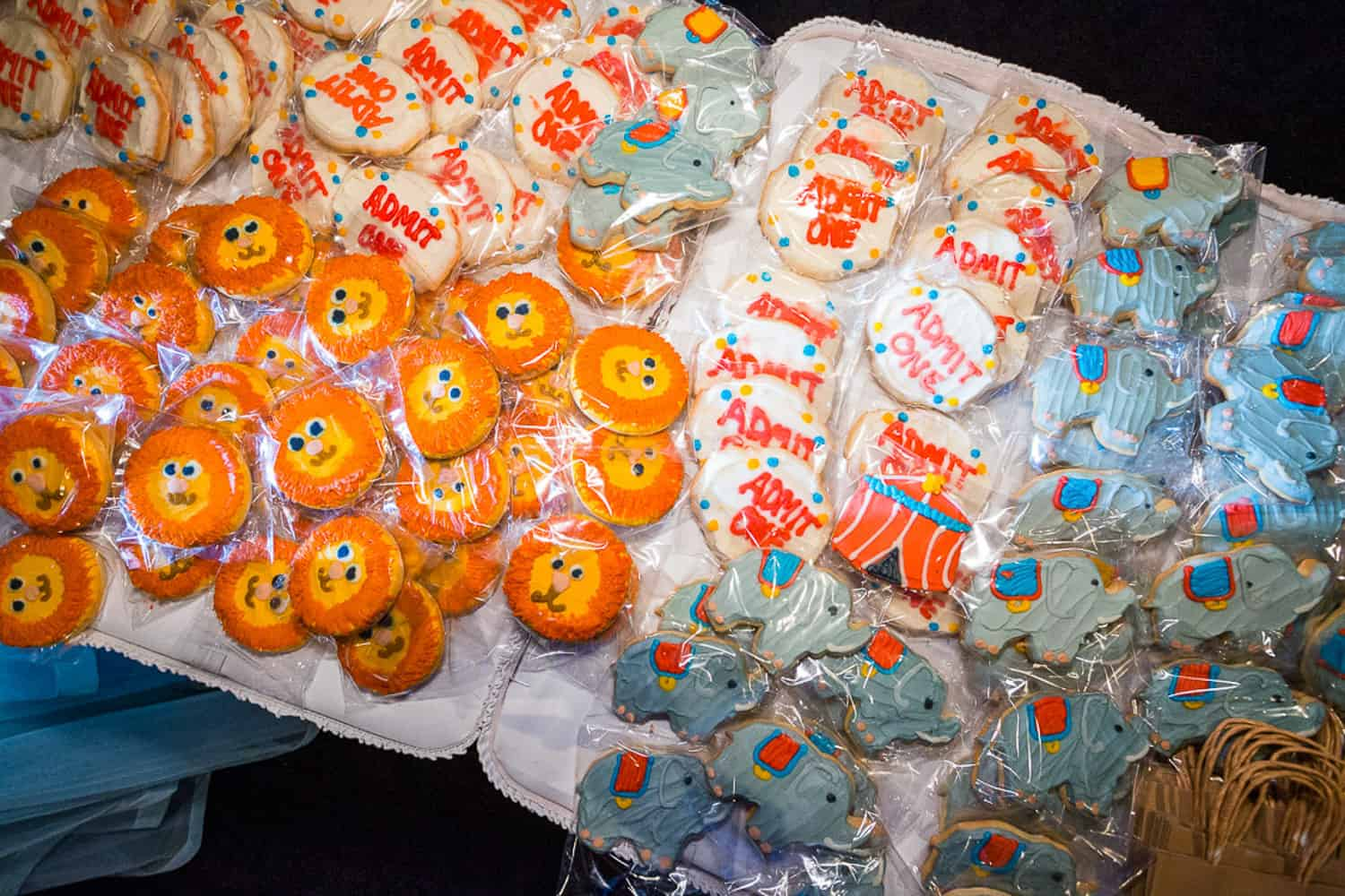 Cookies at a charity event.
