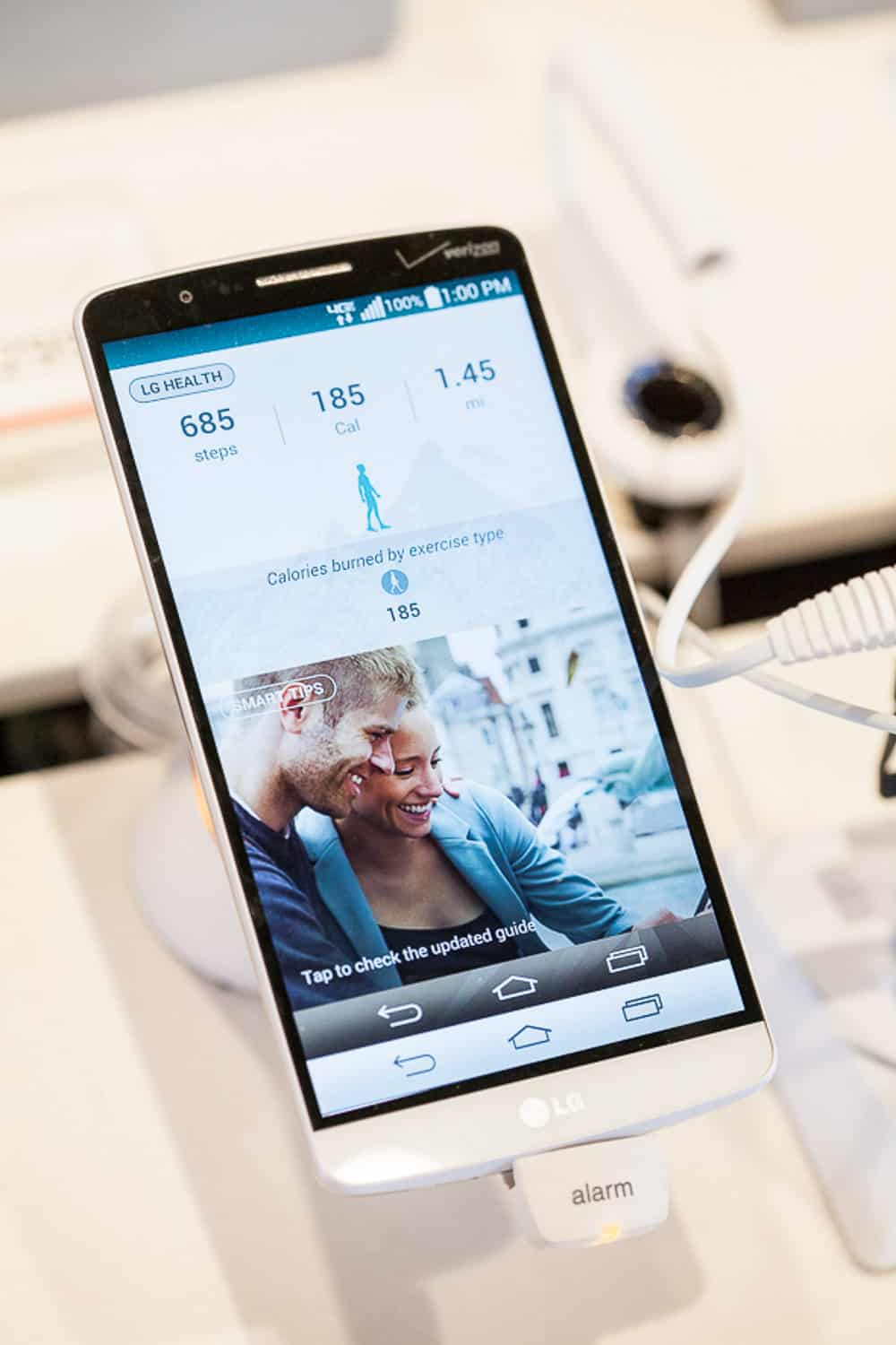Event photograph of a new LG G3.