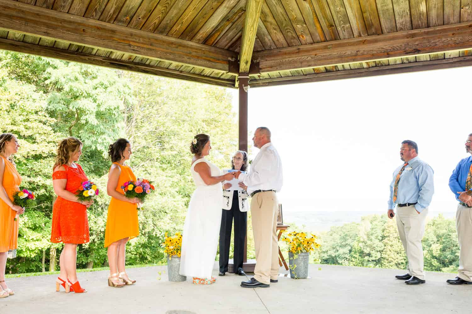 Outdoor wedding at Luensman Overview Park on Thayer Hill.