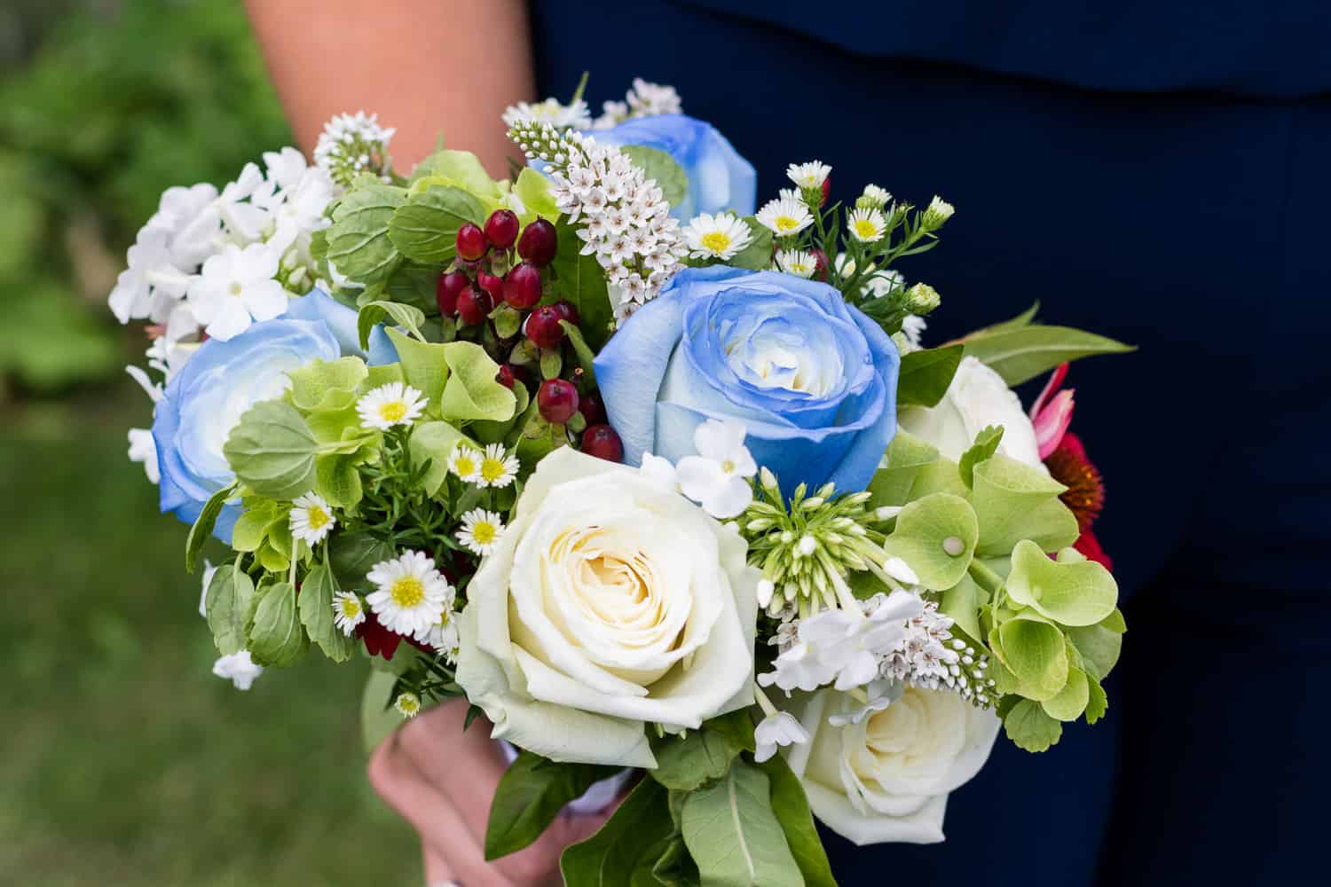 Wedding flowers for a wedding at twin silos.