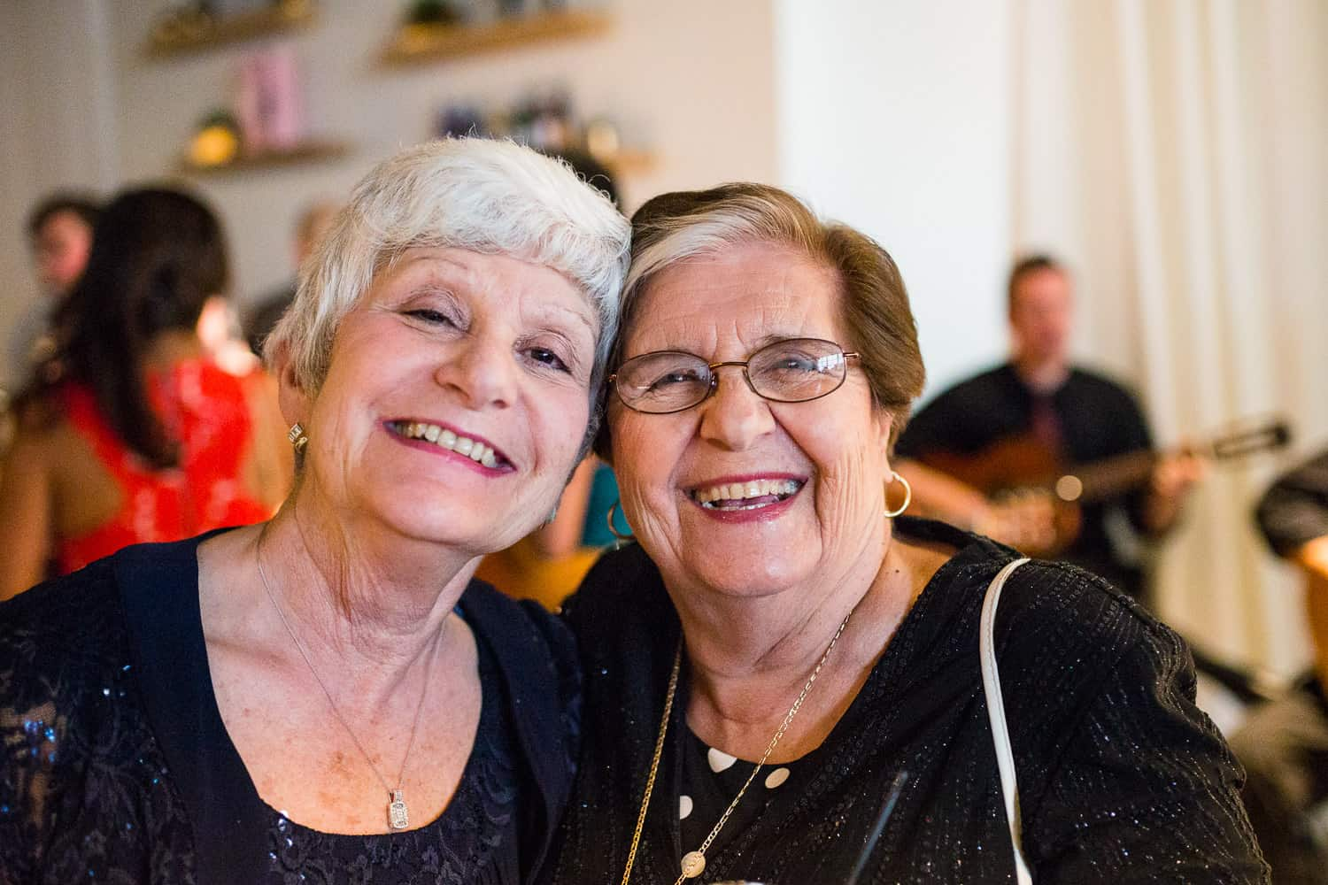 Two adorable ladies at a wedding at the Arbor Loft.