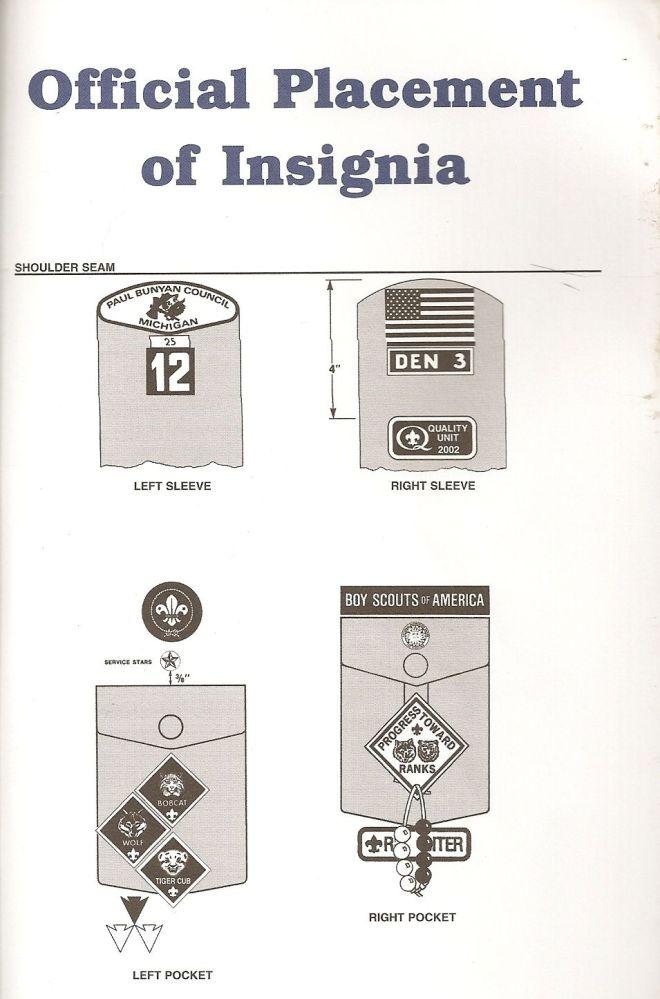 Cub Scout Uniform Patches