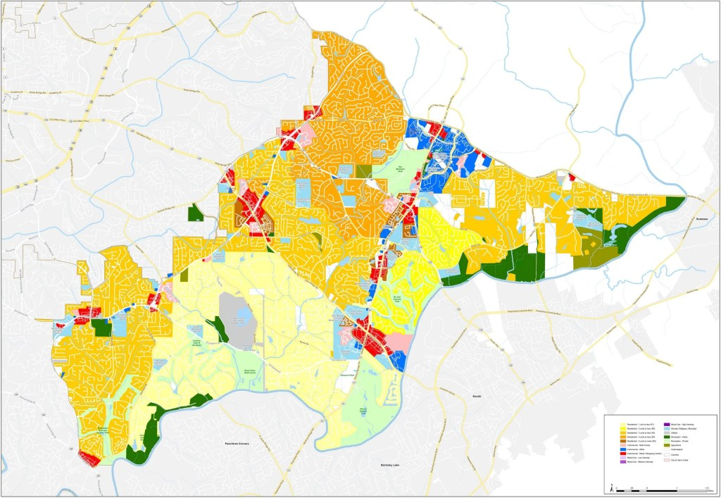 Johns Creek Current Land Use Map (Large)