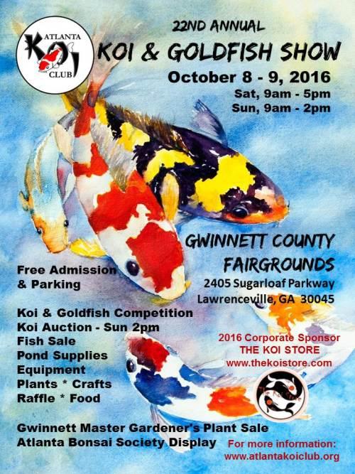 Koi & Goldfish Show October 8-9th 2016