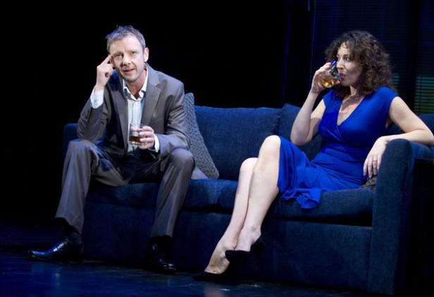 Only connect: John Simm and Lucy Cohu as a shakily married couple