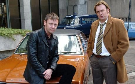 John Simm with his 'Life on Mars' co-star, Philip Glenister. Photo: Neil Jones/PA