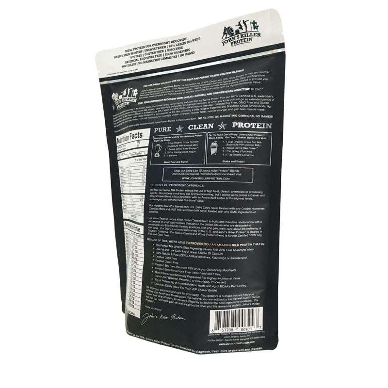 Sugar free gras fed casein protein. slow absorbing protein.