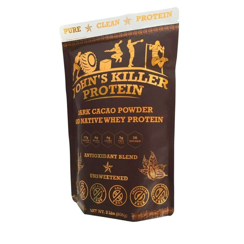 Sugar free organic chocolate protein powder by John's Killer Protein®