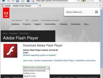 flash player firefox download