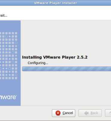 Setup Window for VMware