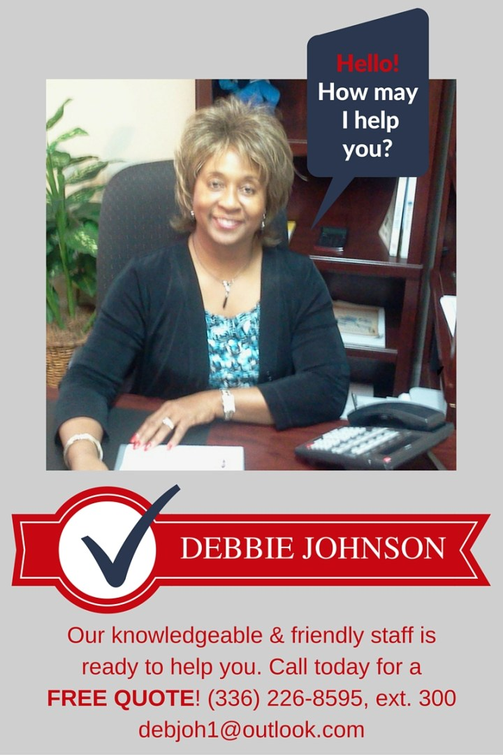 Call Debbie for a free quote!