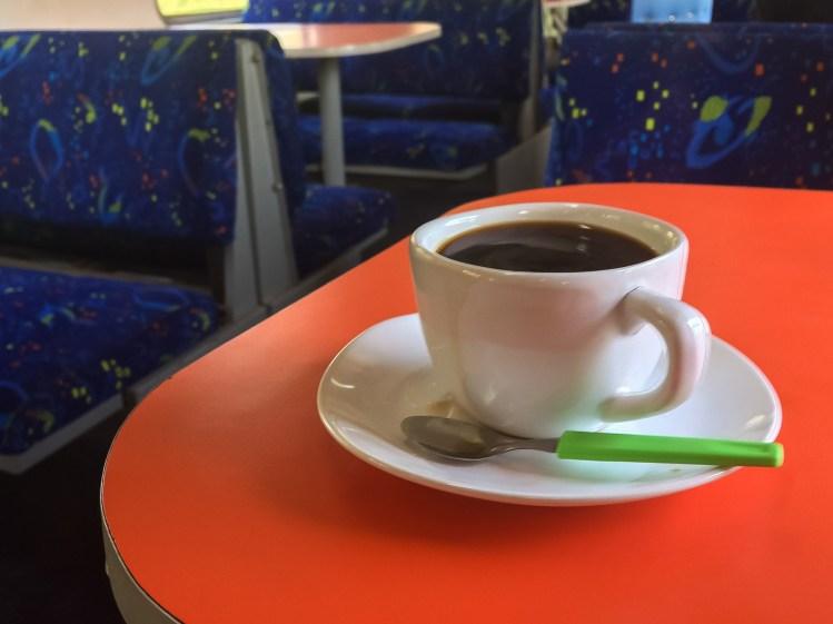 O delicioso café no trem