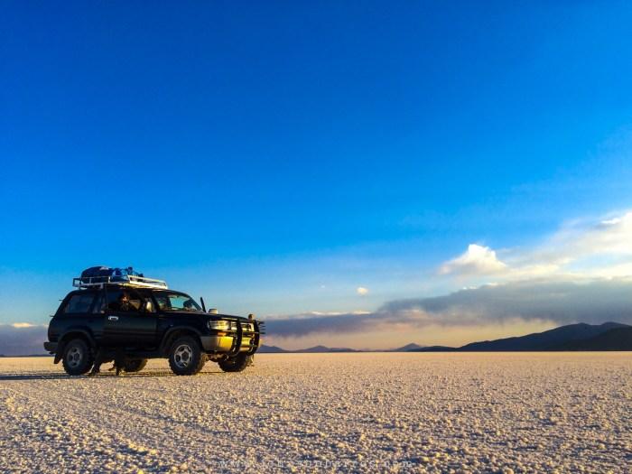 Travessia da planície de sal