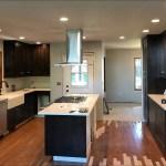 Kitchen Remodel Dark Wood Cabinets White Marble Countertops Range In Island 3 Johnson Construction