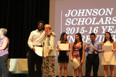 Sharon Wood & graduating Johnson Scholar (2)