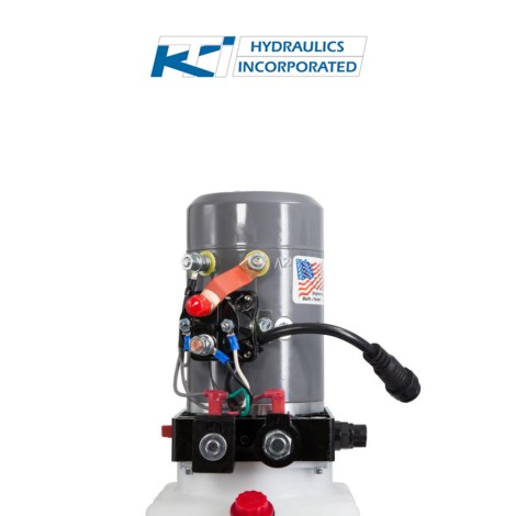 3 Quart 12v KTI Double Acting Hydraulic Pump | DC-4442