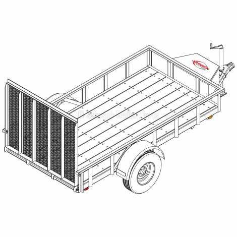 5' x 10' Utility Trailer Plans Blueprints - 3,500 lb Capacity