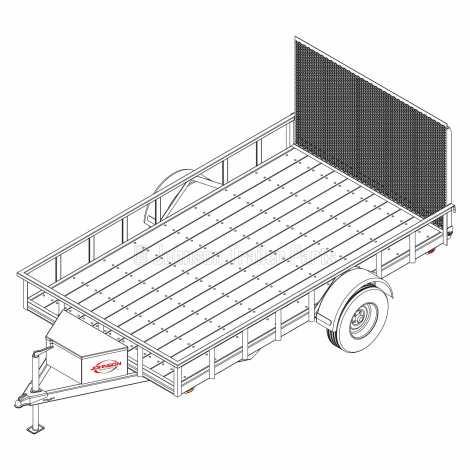 6′ 10″ x 12′ Utility Trailer Plans – 3,500 lb Capacity   2