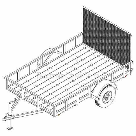 6′ 4″ x 10′ Utility Trailer Plans – 3,500 lb Capacity - 2