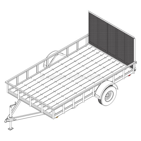 6′ 10″ x 12′ Utility Trailer Plans – 3,500 lb Capacity   3