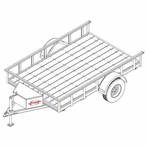 6′ 4″ x 10′ Utility Trailer Plans – 3,500 lb Capacity - 3