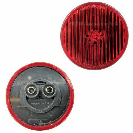 "2 Pack - 2"" Grommet Mount Red LED Side Markers"
