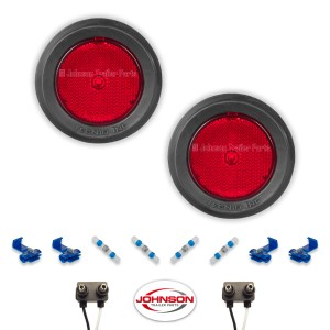 S12 | Pair of 2.5″ Grommet Mount Red LED Side Markers