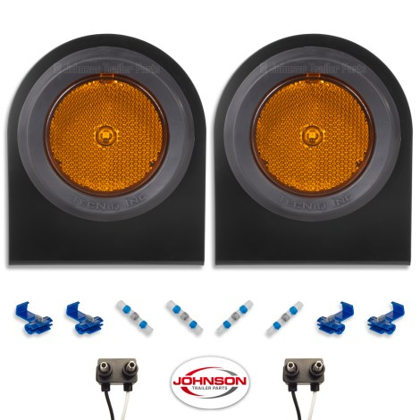 S12   Amber LED Side Markers with Steel Brackets