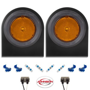 S12 | Amber LED Side Markers with Steel Brackets