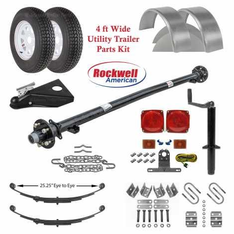 4ft Utility Trailer Parts Kit - 3,500 lb Capacity