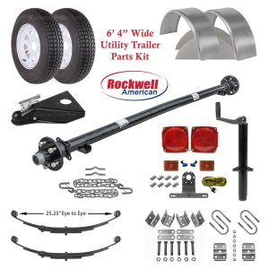 6ft 4in Utility Trailer Parts Kit - 3,500 lb Capacity