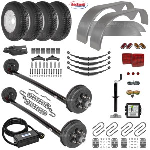 Tandem Drop Axle Trailer Parts Kit - 10.4k Capacity