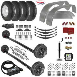 Tandem Drop Axle Trailer Parts Kit - 10.4k Capacity