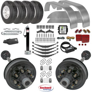 Tandem Axle Trailer Parts Kit - 14k Capacity - Double Eye Springs