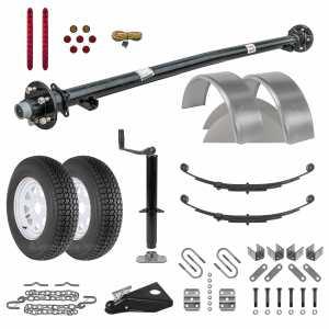 6ft Utility Trailer Parts Kit - 3.5k - Model U72-120-35J