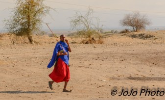 Maasai warrior on cell phone