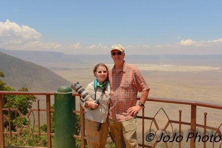 Mary and Mark at the Ngorongoro Crater Overlook