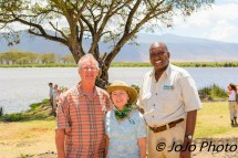 Mark, Mary, and Michael Mlolo in Ngorongoro Crater