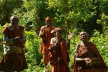 We are greeted by singing from the Batwa Pygmy Tribe in Bwindi National Park