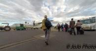 Mark ready to fly on Precision Air from Nairobi, Kenya to Kilimanjaro Airport near Arusha, Tanzania.