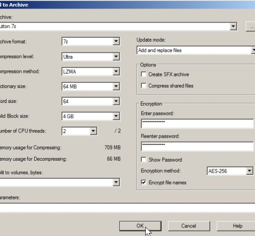 How to password protect your files with 7zip file compresssion and