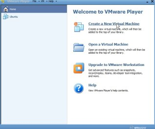 VMware Click on Create a New Virtual Machine