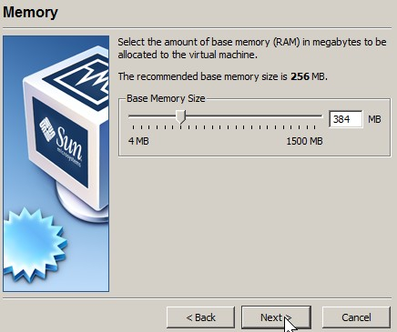 adjust how much ram that is required to run the OS for the VMDK file