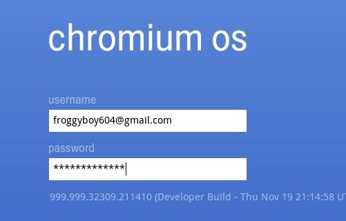 log into your OS