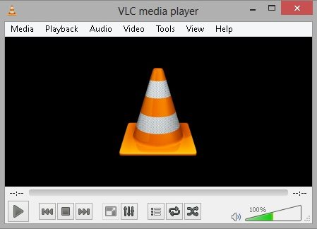VLC Player running in Windows 8