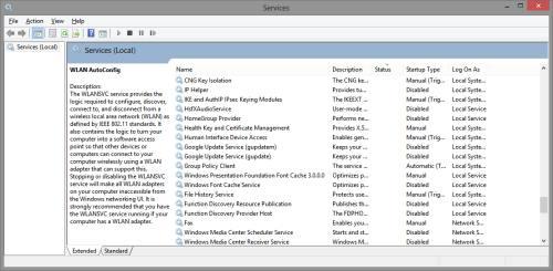 Services.msc Windows 8